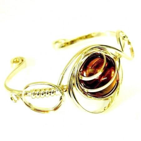 Bracelet doré de couleur jaune topaze