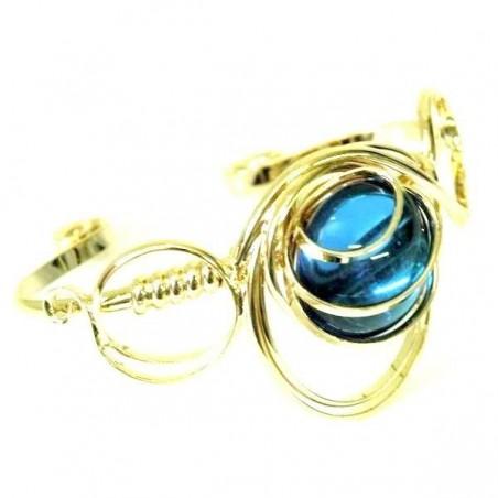 Bracelet bleu clair ou bleu aïgue-marine