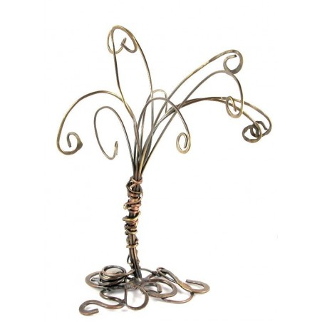 Arbre à bijoux fabriqué en laiton, pièce unique