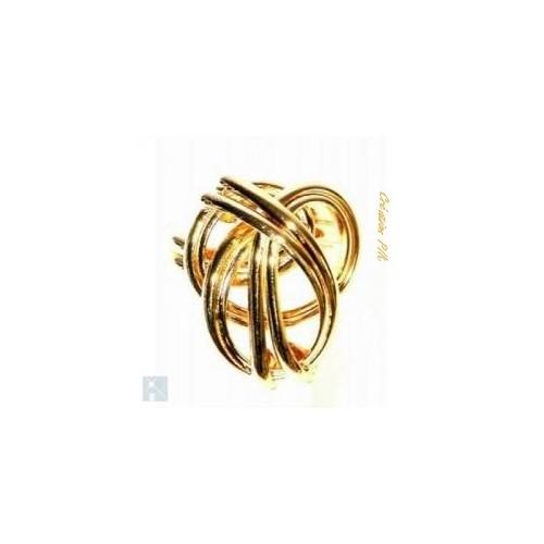 Bague en forme arrondie, dorée à 2 microns