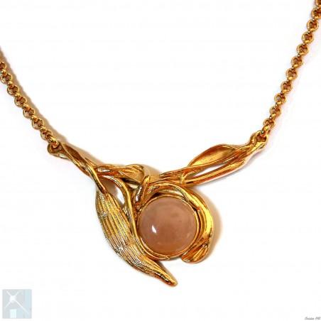 Collier plaqué or, fabrication artisanale française