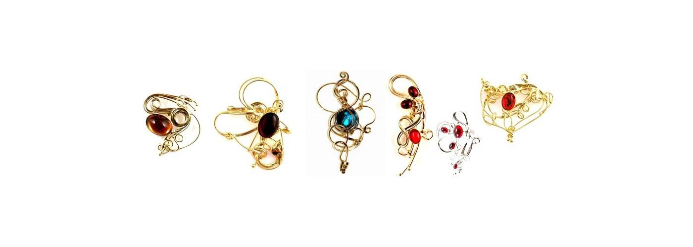 Broches artisanales fantaisie, bijoux de créateur français
